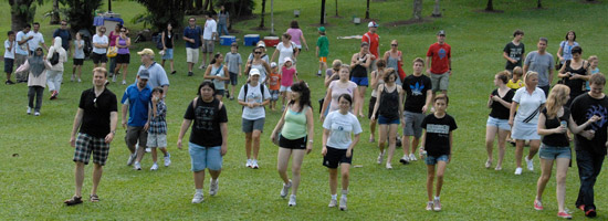 People participating in the Megan's Walkathon