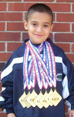 Child with medals