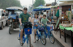 Family Riding Bikes
